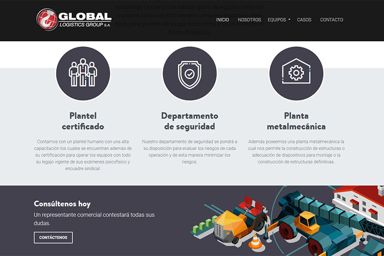 Website | Global Grúas