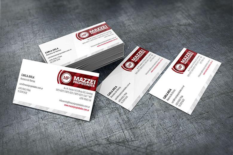 Tarjetas personales | Mazzei Propiedades